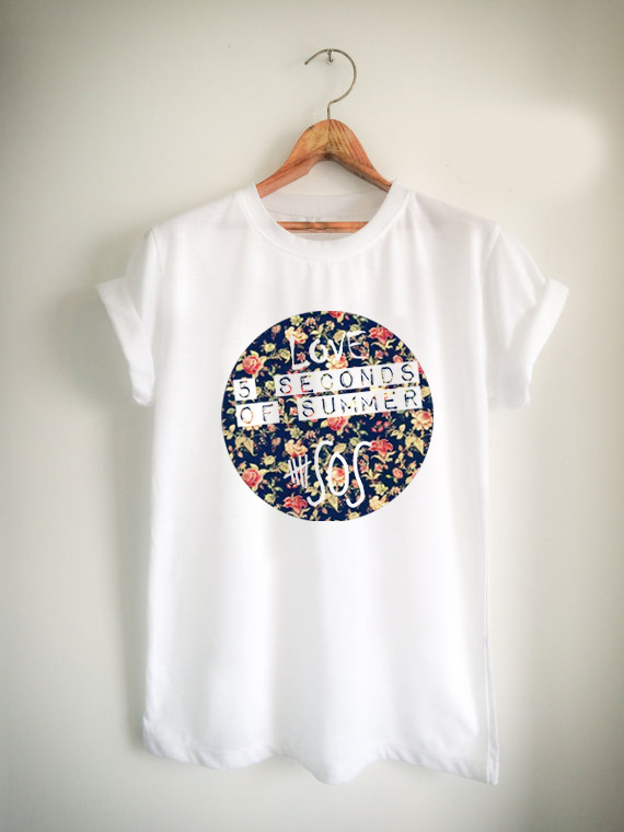5 second of summer Flower Unisex Tshirt