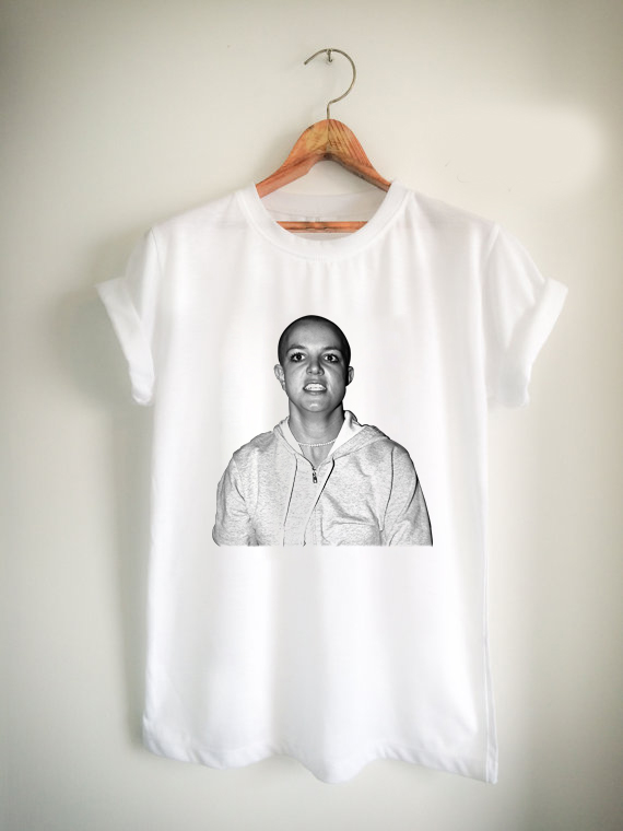 Britney Spears Shaved Head Unisex Tshirt