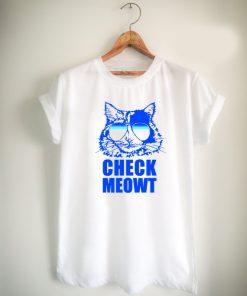 Check Meowt Cat Sunglasses Unisex Tshirt