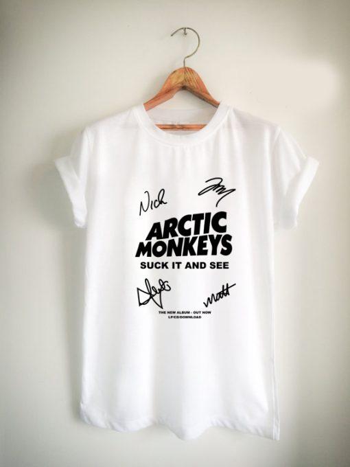 arctic Monkey Cover Album signature Unisex Tshirt