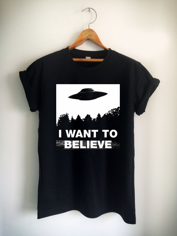 i want to believe Unisex Tshirt