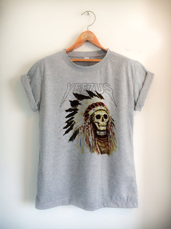 yeezus indian skull Unisex Tshirt