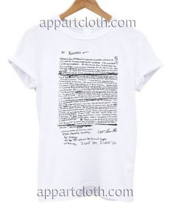 Kurt Cobain Suicide Letter Nirvana Unisex Tshirt