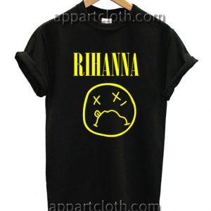 Rihanna on Nirvana Parody Style Unisex Tshirt