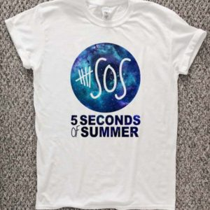 5 Second Of Summer Nebula T-Shirt Unisex Adults Size S to 2XL