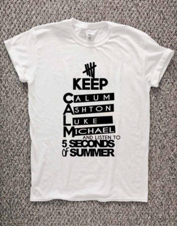 5 second of summer T-Shirt Unisex Adults Size S to 2XL