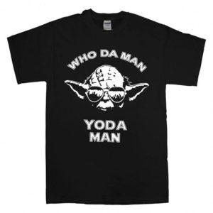 Who Da Man, Yoda Man T-Shirt Unisex Adults Size S to 2XL