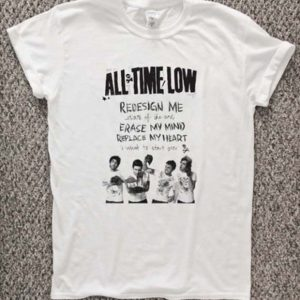 all time low lyrics T-Shirt Unisex Adults Size S to 2XL