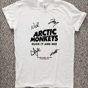 arctic Monkey Cover Album signature T-Shirt Unisex Adults Size S to 2XL