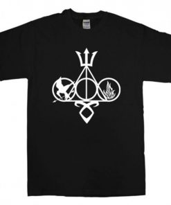 Symbol harry potter and Catching fire T Shirt Unisex Adults Size S to 2XL