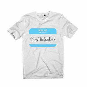 Mrs Justin Timberlake Unisex Tshirt