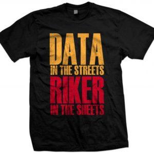 STAR TREK TNG The Next Generation Captain Riker Data Unisex Tshirt
