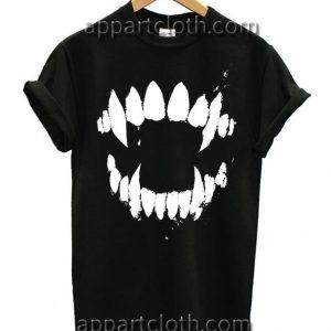 Fangs T Shirt Size S,M,L,XL,2XL