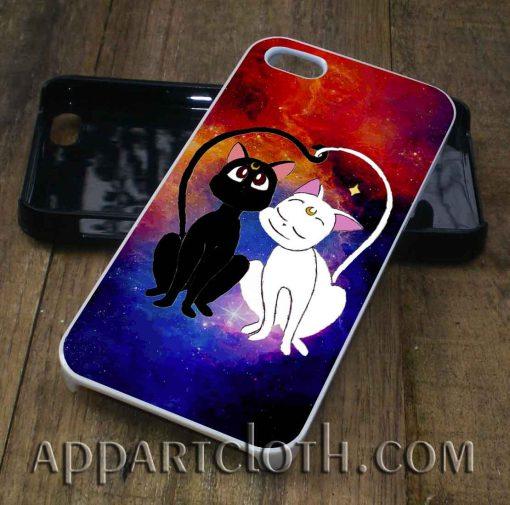 Luna and artemis nebula phone case