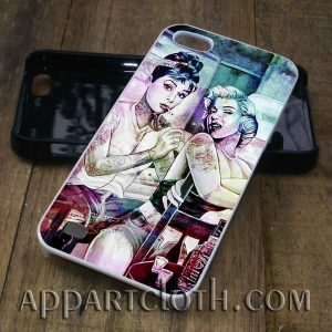 audrey hepburn and marilyn monroe phone case