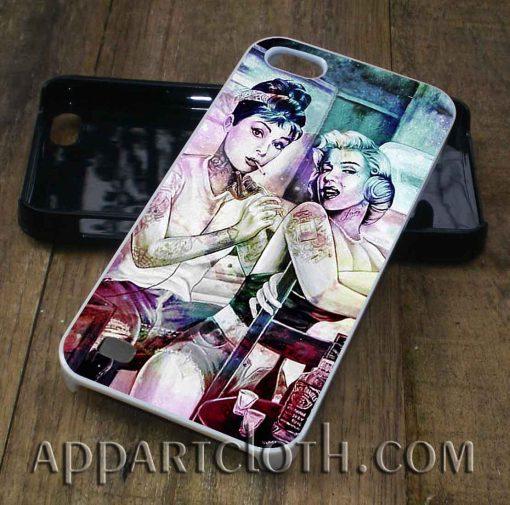 audrey hepburn and marilyn monroe phone case