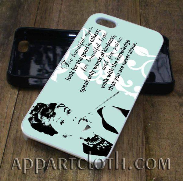 audrey hepburn quote eye phone case