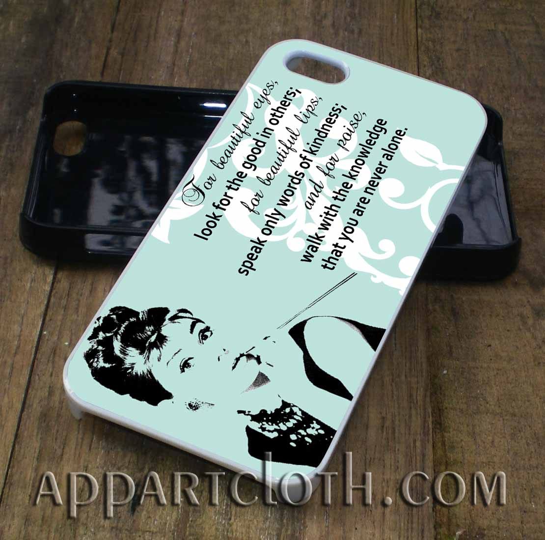 audrey hepburn quote eye phone case