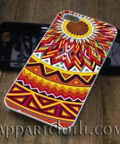 aztec mandala yellow phone case