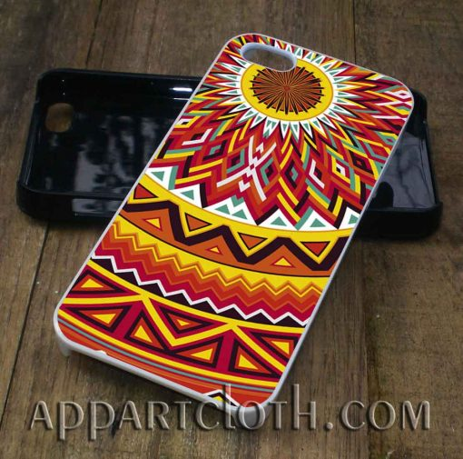 aztec mandala yellow phone case