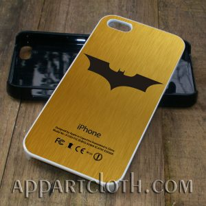 batman logo gold phone case