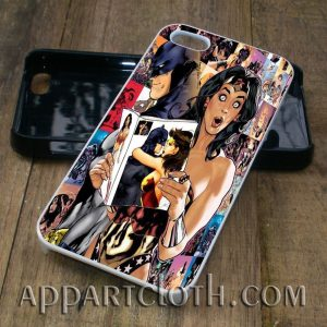 batman wonder woman phone case