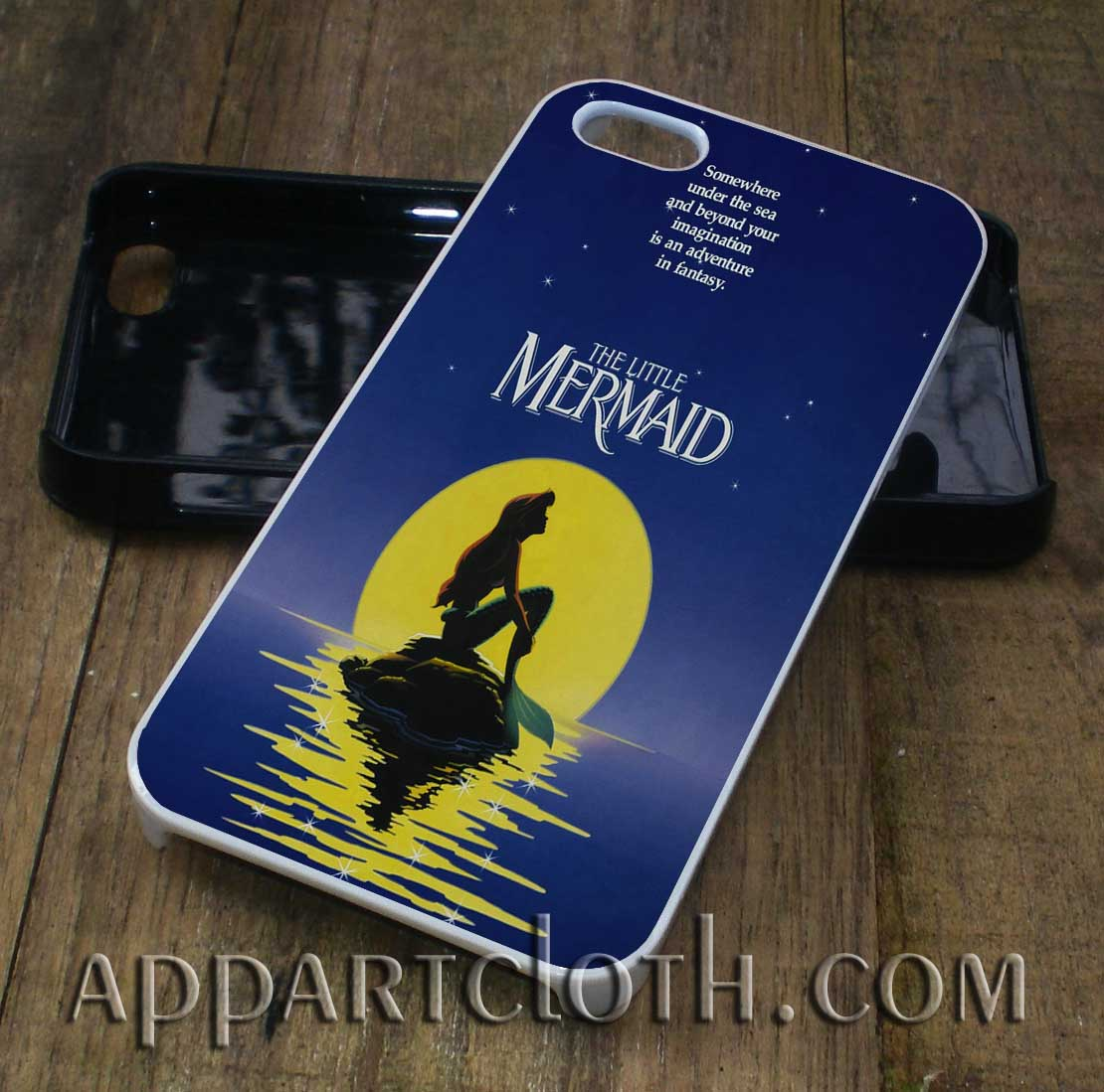 little mermaid moon phone case