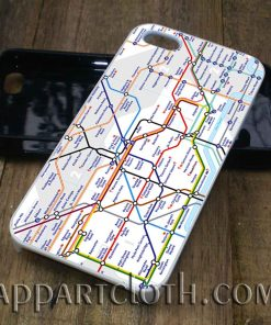 london tube map phone case