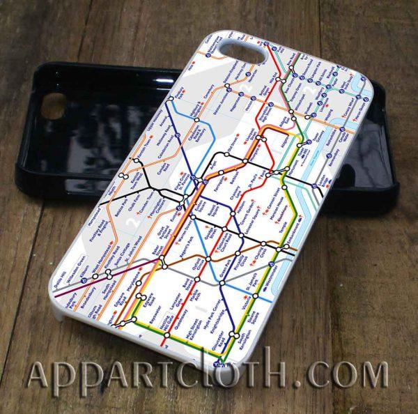 london tube map phone case