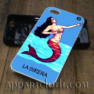 loteria la sirena phone case