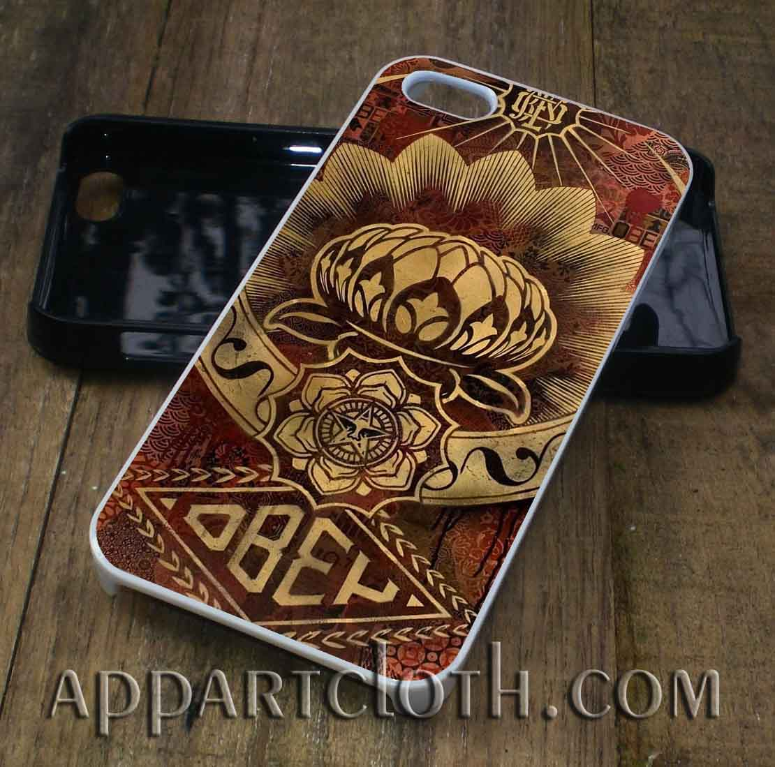 lotus canvas obey phone case