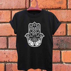 Hamsa fish Hand of Fatima spiritual T Shirt Size S,M,L,XL,2XL