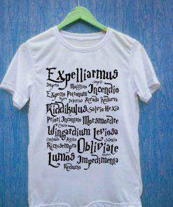 Harry potter spell T Shirt Size S,M,L,XL,2XL