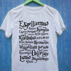 Harry potter spell T Shirt Size S,M,L,XL,2XL