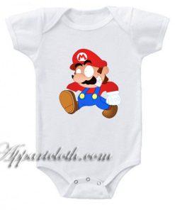 Super Mario Funny Baby Onesie