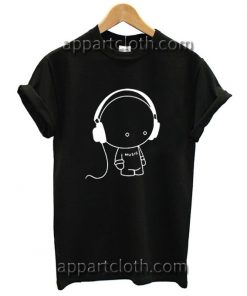 Cute Music Headphones T Shirt Size S,M,L,XL,2XL