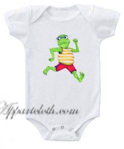 Monster Running Funny Baby Onesie