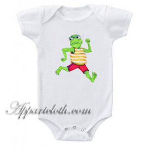 Monster Running Funny Baby Onesie