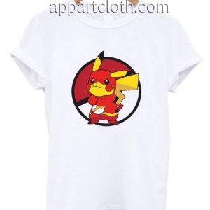 Pikachu flash Spoof T Shirt Size S,M,L,XL,2XL