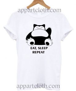 Pokemon Snorlax Eat, Sleep Repeat T Shirt Size S,M,L,XL,2XL