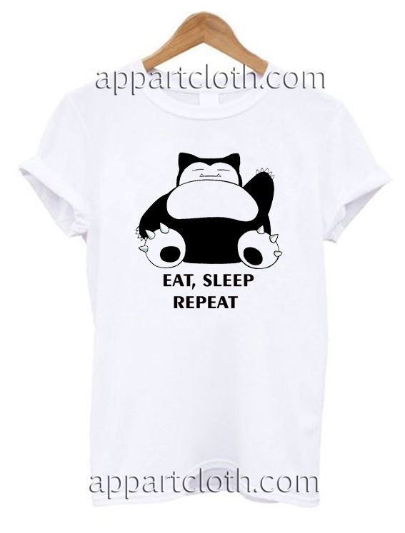 d68ab2fc PICK UP AT STORE Source · Pokemon Snorlax Eat Sleep Repeat T Shirt Size S M  L XL 2XL Funny