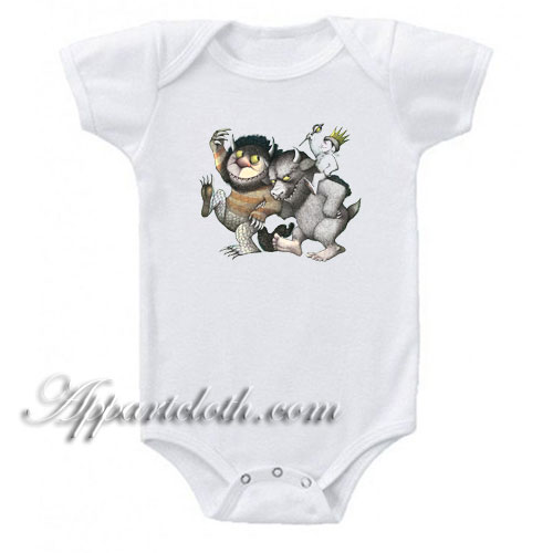 Where The Wild Things Are Funny Baby Onesie
