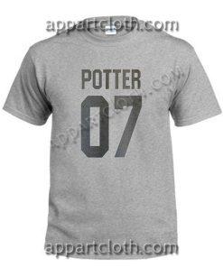 Potter 07 T Shirt – Adult Unisex Size S-2XL