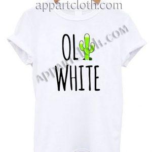 White Cactus T Shirt Size S,M,L,XL,2XL