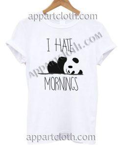 I Hate Mornings Panda T Shirt – Adult Unisex Size S-2XL