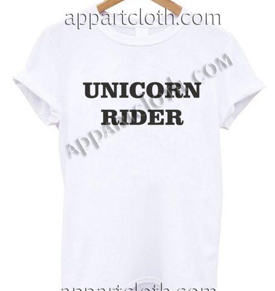UNICORN RIDER T Shirt – Adult Unisex Size S-2XL