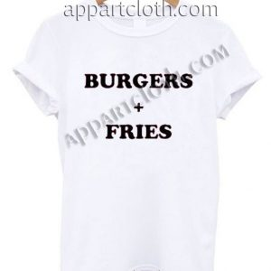Burgers + Fries T Shirt Size S,M,L,XL,2XL