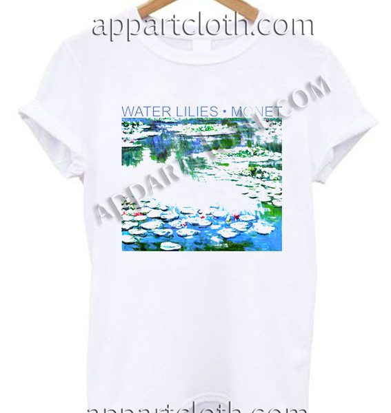 Water lilies monet T Shirt Size S,M,L,XL,2XL