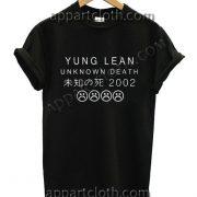 YUNG LEAN UNKNOWN DEATH Sad Boys T Shirt Size S,M,L,XL,2XL