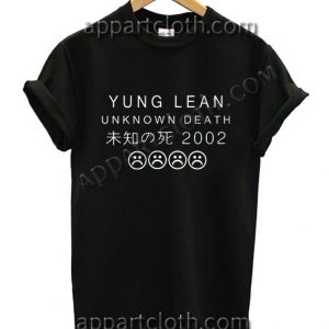 YUNG LEAN UNKNOWN DEATH Sad Boys T Shirt Size S,M,L,XL,2XL